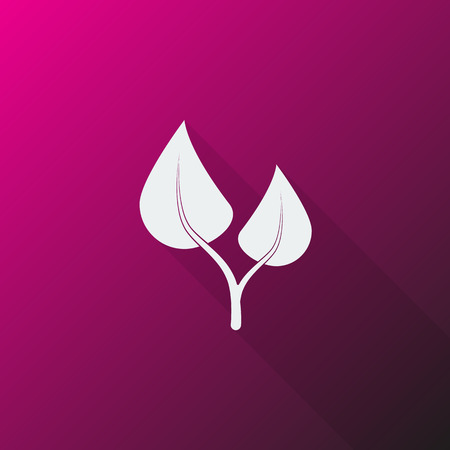 medical herbs: White Medical Herbs icon on pink background