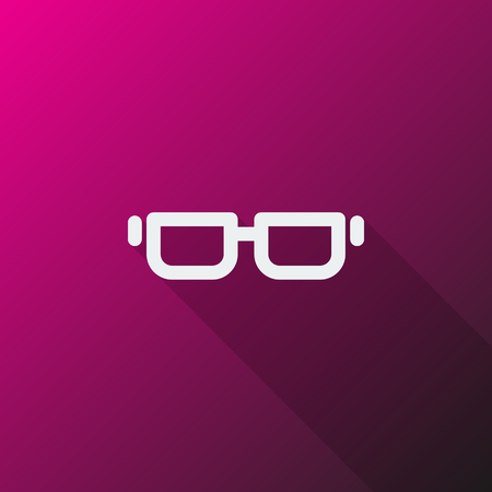 reading app: White Glasses icon on pink background