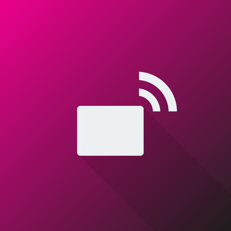 transmitter: White Transmitter icon on pink background
