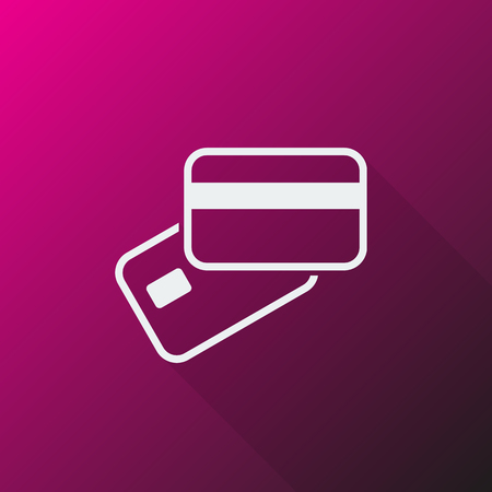 supplier: White Credit Card Payment icon on pink background