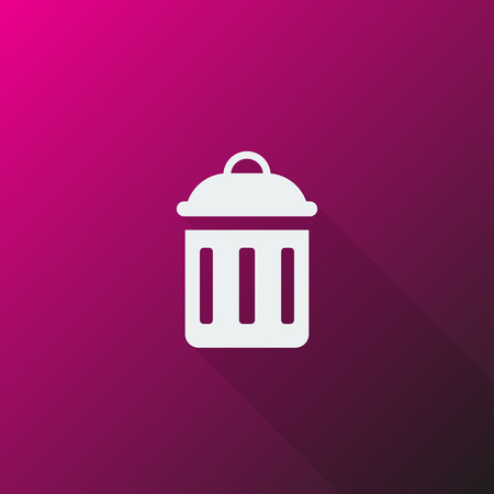 delete icon: White Delete icon on pink background