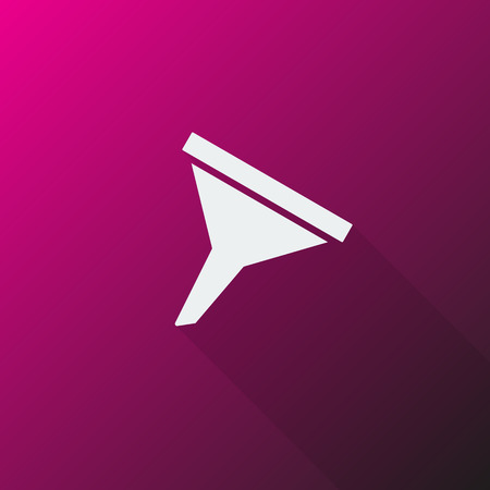 filtering: White Funnel icon on pink background