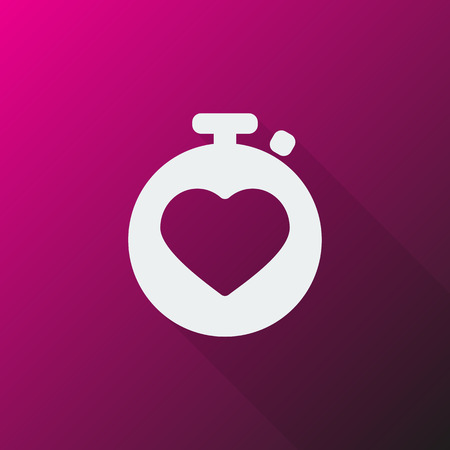 heart monitor: White Heart Rate Monitor icon on pink background