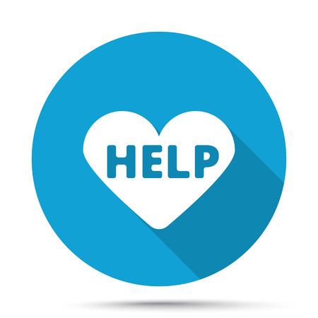 cardioverter: White Defibrillator  icon on blue button isolated on white Illustration