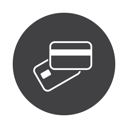 supplier: White Credit Card Payment icon on black button isolated on white
