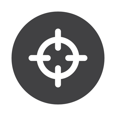 scope: White Scope icon on black button isolated on white Illustration