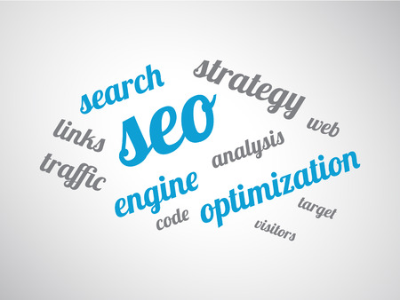 cloud search engine: Search engine optimization word cloud concept