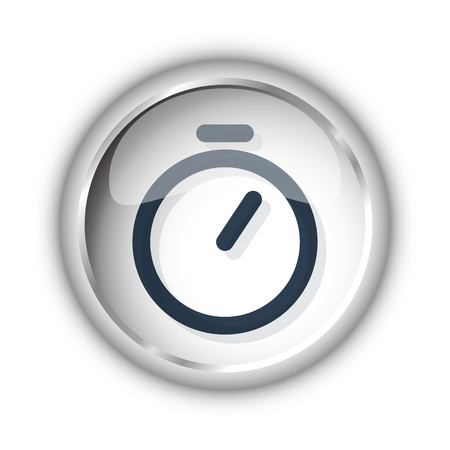 Web button with black Timer icon on white background