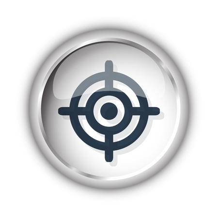 Web button with black Target icon on white background