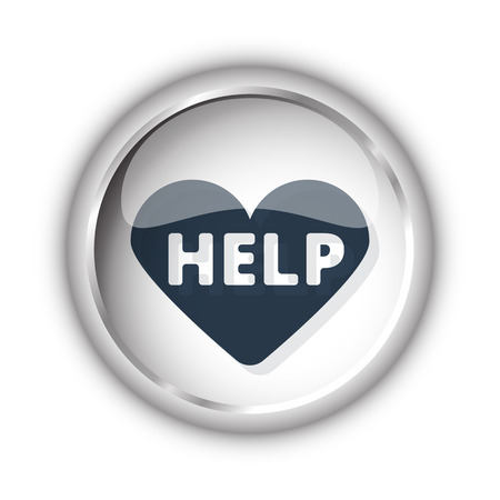 cardioverter: Web button with black Defibrillator  icon on white background