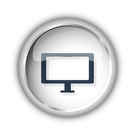 display size: Web button with black Computer Screen icon on white background