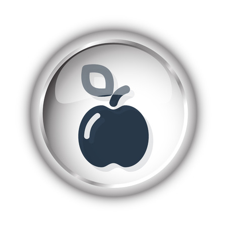 Web button with black Apple icon on white background