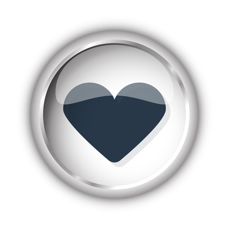 kind: Web button with black Heart icon on white background