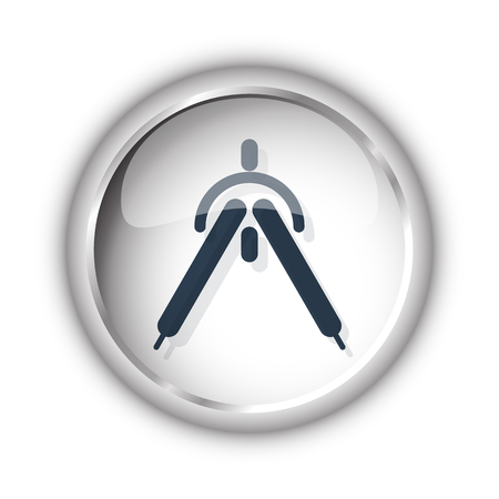 drafting: Web button with black Drafting Compass icon on white background