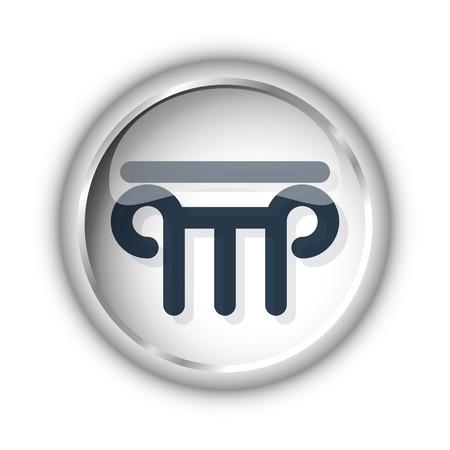 Web button with black Column icon on white background