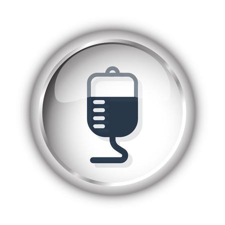transfusion: Web button with black Transfusion icon on white background