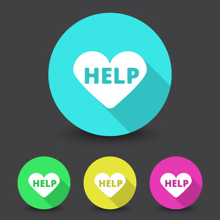 defibrillator: White Defibrillator  icon in different colors set Illustration