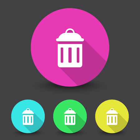 reusing: White Delete icon in different colors set Illustration