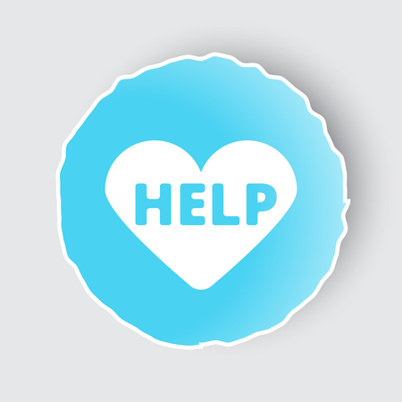 Blue app button with Defibrillator  icon on white.
