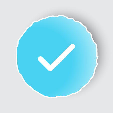 confirm: Blue app button with Confirm icon on white.