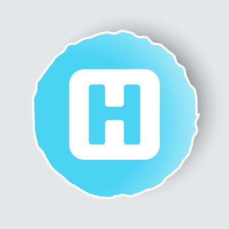 Blue app button with Helicopter Platform icon on white.