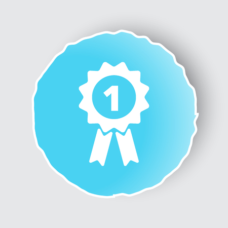 Blue app button with Prize Ribbon icon on white.