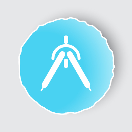 drafting: Blue app button with Drafting Compass icon on white.