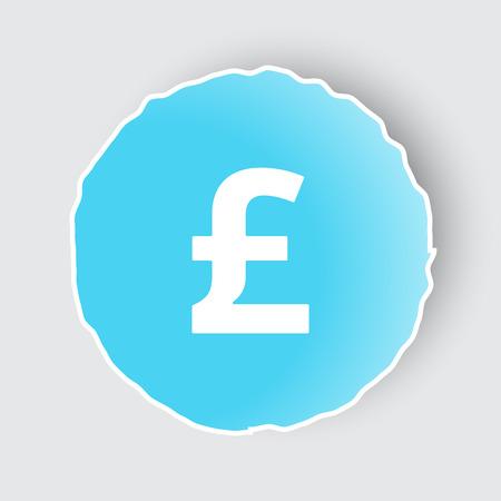 Blue app button with Pound icon on white.