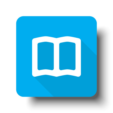 blue book: White Book icon on blue web button
