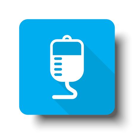 transfusion: White Transfusion icon on blue web button