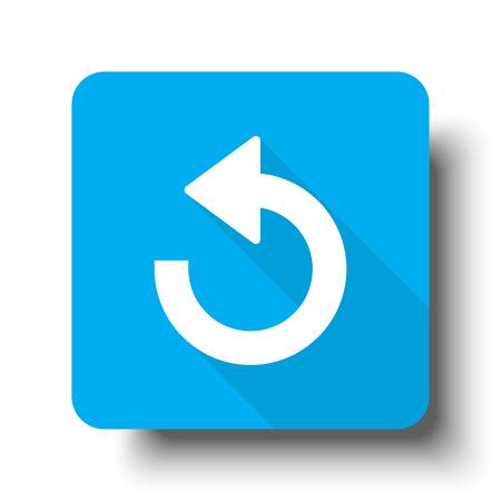undo: White Undo icon on blue web button