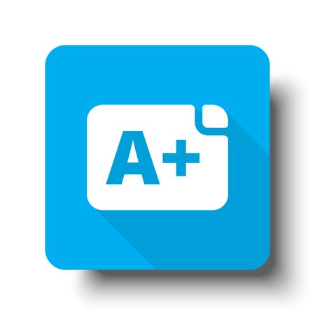 Weißes Rating-Symbol auf blauem Web-Button