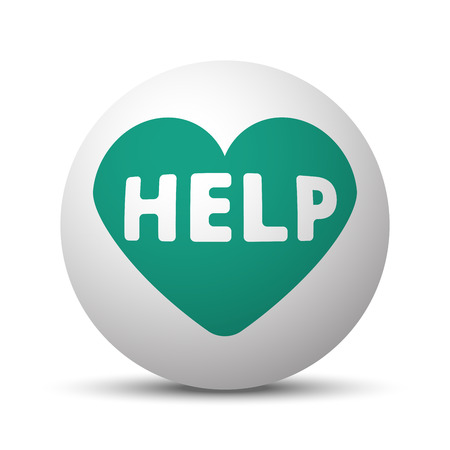 Green Defibrillator  icon on white sphere