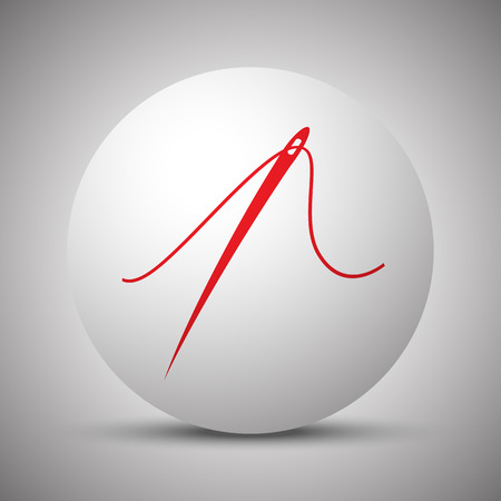taylor: Red Needle icon on white sphere