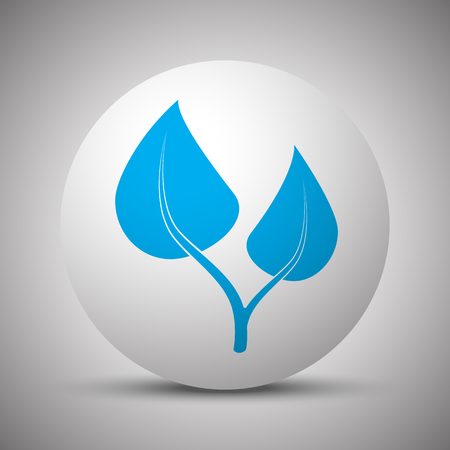 Blue Medical Herbs icon on white sphere