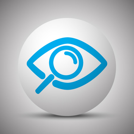 Blue Observation icon on white sphere