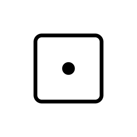 White dice number 1 icon.