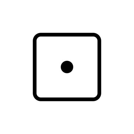 White dice number 1 icon. Stok Fotoğraf - 97719825