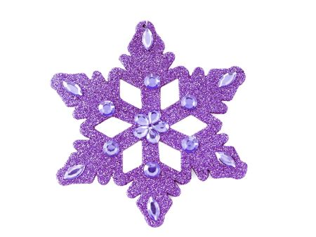 Purple snowflake