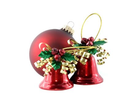 Red tree ornaments Stock Photo