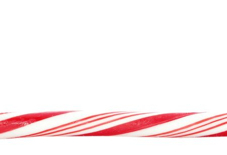 candy stick: Candy cane border Stock Photo
