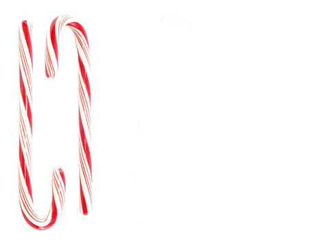 Candy canes with space for text
