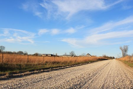 gravel roads: Country road