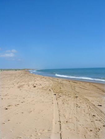 Large open beach Stock Photo
