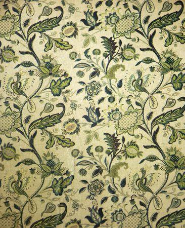 Vintage book cover met groene bloemen en vogels ontwerp