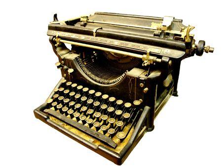 type writer: Vintage typerwriter isolated on white Stock Photo