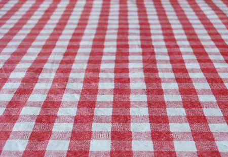 Witte en rode tafel laken voor achtergrond