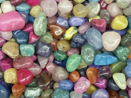 semiprecious: Small colorful rocks for background Stock Photo