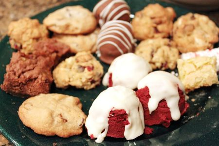 goodies: Holiday goodies on a plate