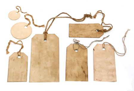 Vintage tags isolated on white